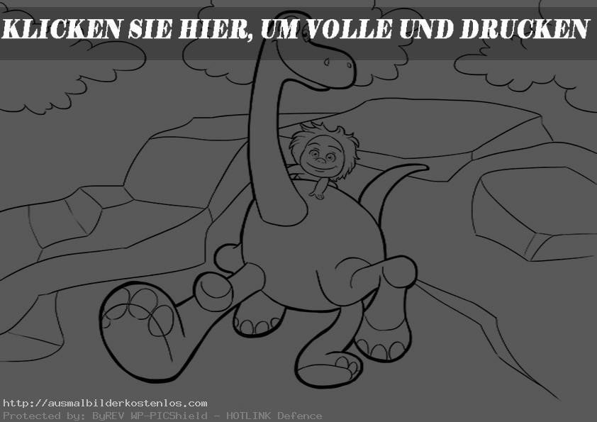 ausmalbilder kostenlos der gute dinosaurier-14